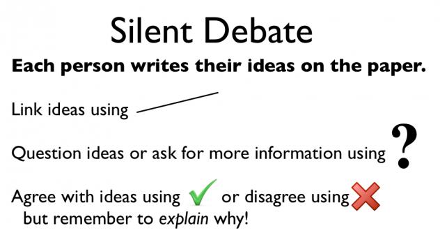 silent debate